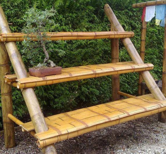 Estantes para plantas zakka jardn plegable de madera - Estantes para plantas ...
