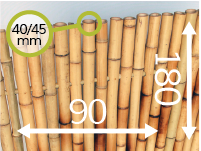 Bamboo fence panel - moso-en