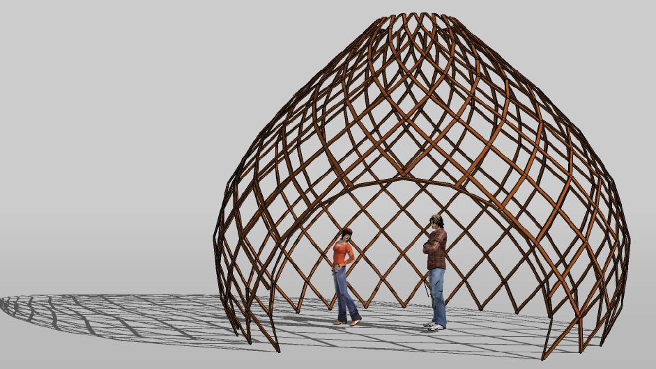 Estructuras espaciales en Bambú   Bambusa Estudio