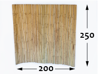 Rollos de Bambú Ø25 - 200cm - 250-cm