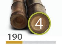 Black Bamboo poles - 4-5-cm-en - 190-m-en