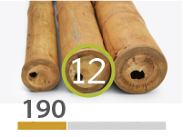 Cañas Bambú Guadua - 11-13-cm - 190-m