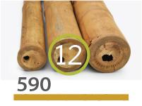 Cañas Bambú Guadua - 11-13-cm - 590-m
