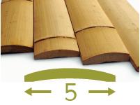 Moso bamboo slats - 5cm-en