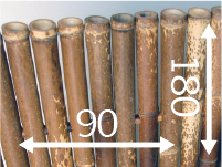Pannello di canne di bambù - leopard-it