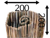 Rollos de Bambú Ø25 - 200cm - 200cm - black