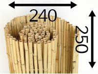 Rollos de Bambú Ø25 - 240cm - 250-cm - moso