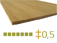 Bamboo board - 5-mm-en - toasted-en