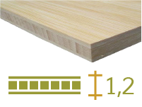 Bamboo board - 12-mm-en - natural-en