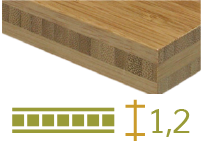 Bamboo board - 12-mm-en - toasted-en