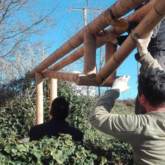 Taller bio construcción con Bambú