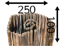 Rollos de Bambú Ø25 - 250cm - 100-cm - black