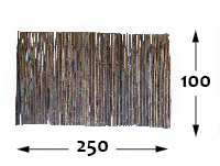 Rollos de Bambú Black Ø25 - 250cm-pt-pt - 100-cm-pt-pt