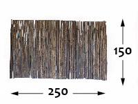 Black Bamboo rolled fence Ø25 - 250cm-en - 150-cm-en