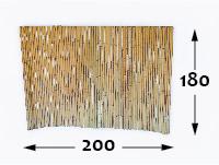 Bamboo rolled fence Ø25 - 200cm-en - 180-cm-en