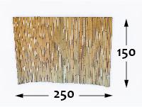 Bamboo rolled fence Ø25 - 250cm-en - 150-cm-en
