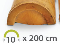 Media caña Bambú Moso - 9-11-cm - 2m