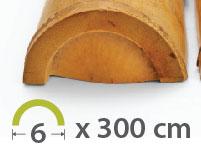 Media caña Bambú Moso - 5-7-cm - 300m