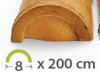 Media caña Bambú Moso - 7-9-cm - 2m