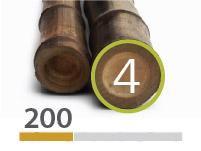 Canne di Bambù Black - 4-5-cm-it - 200m-it