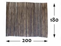 Rollos de Bambú Black Ø25 - 200cm - 180-cm