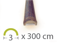 Media caña Bambú Black - 3-4-cm - 300m