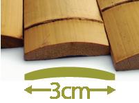 Listelli di Bambú Moso - 3cm